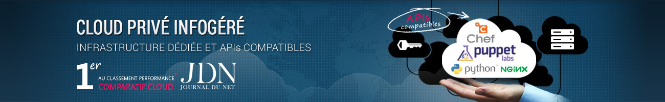 Ikoula fournit des solutions de Cloud Privé Infogéré